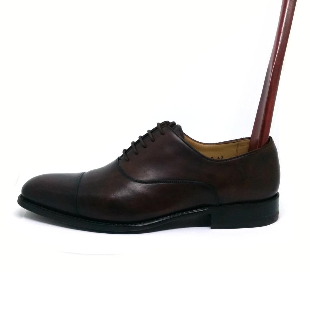 wooden shoe horn in shoe