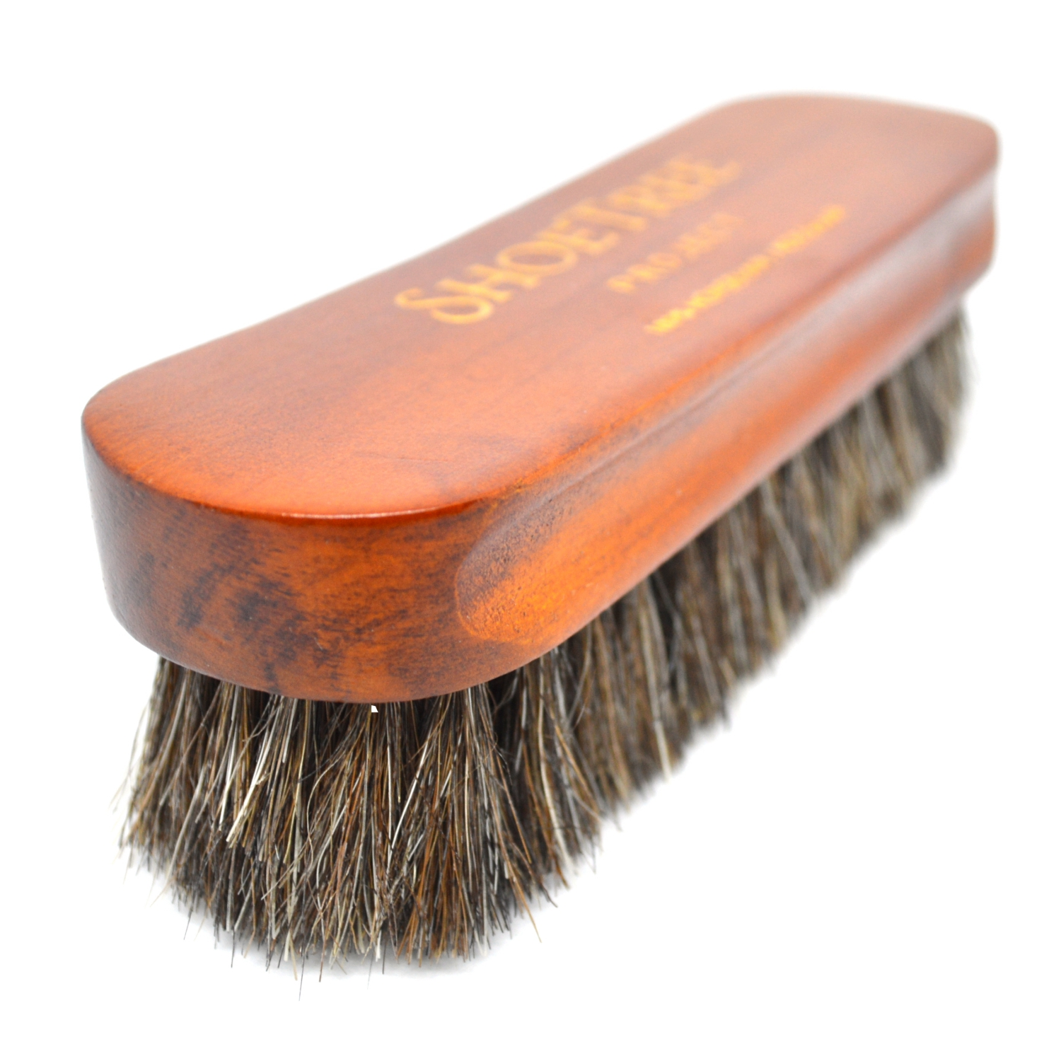 Horse Hair Shoe Buffing Brush handle