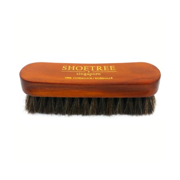 horse hair shoe brush top