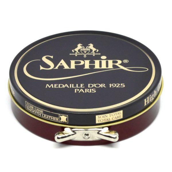 Saphir Pate de Luxe Wax Shoe Polish Mahogany
