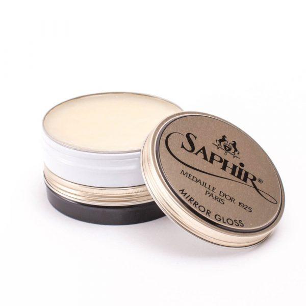 saphir mirror gloss wax polish open
