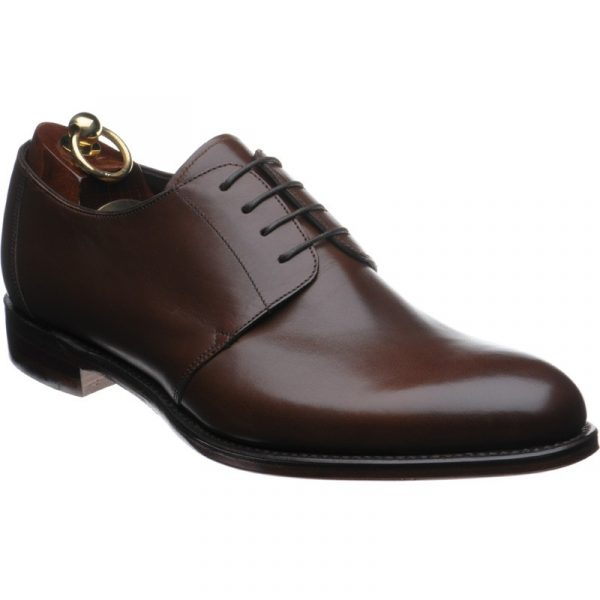 dark brown shoes with dark brown laces