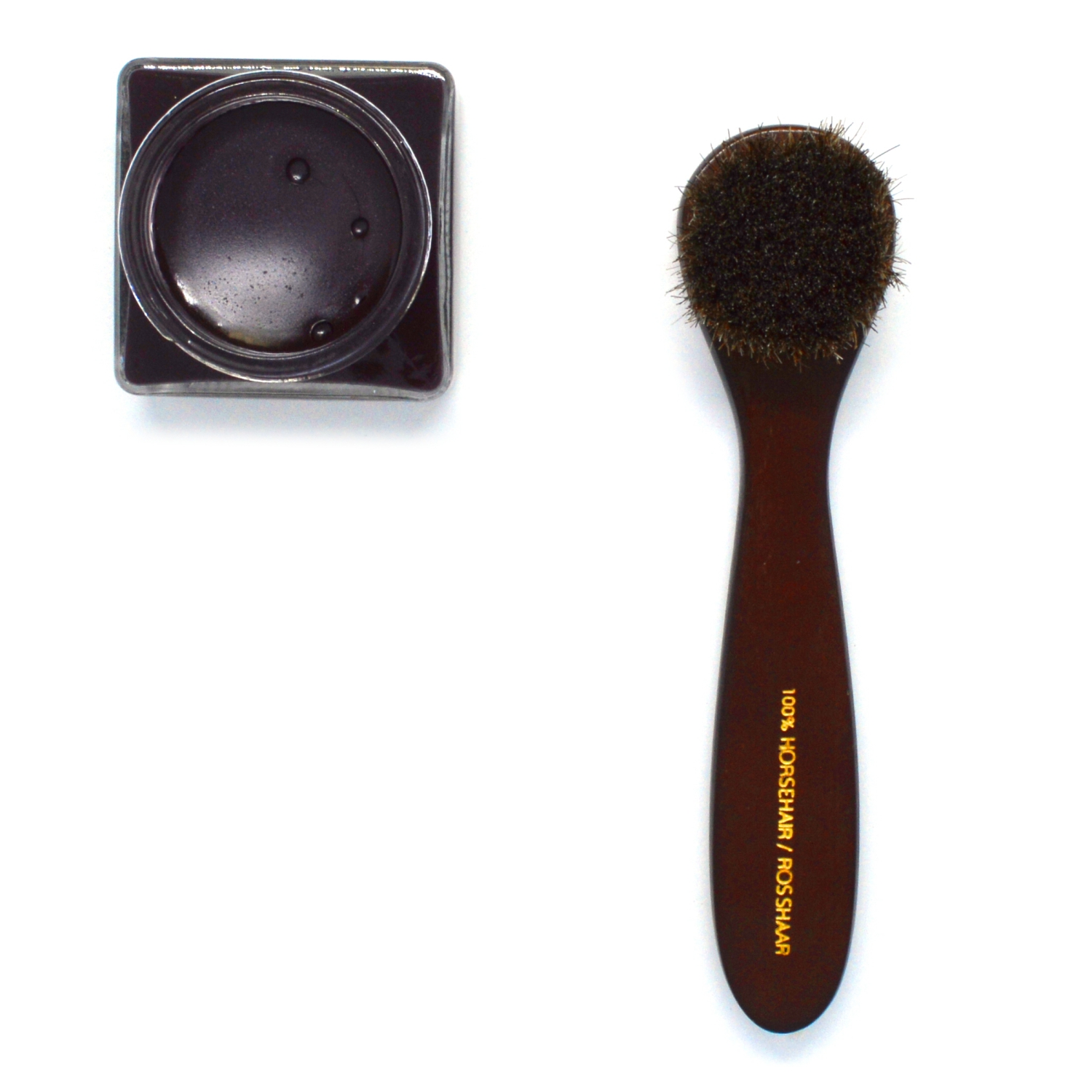 Horsehair Shoe Polish Dauber Brush size